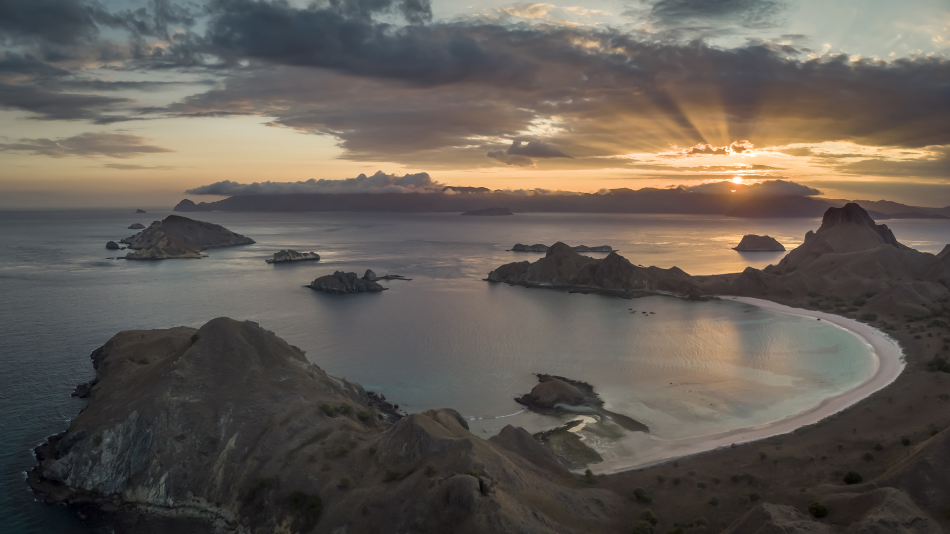 Beautiful Padar Sunset IV 16-9 Med Resolution