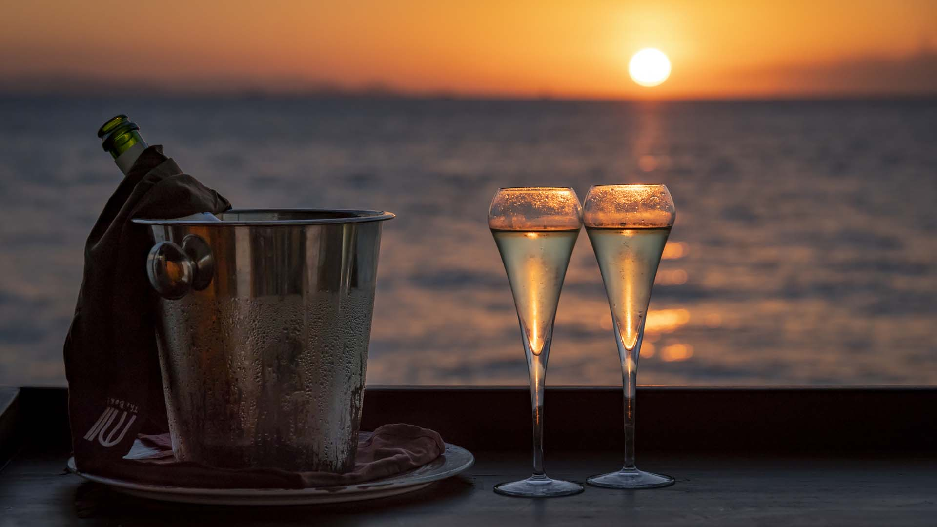 Champagne Sunset I